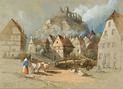House Map Drawing file village and castle 1854 jpg wikimedia commons