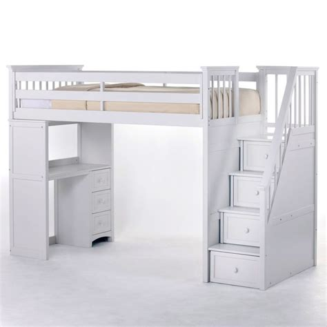 white loft beds schoolhouse stairway loft bed white www