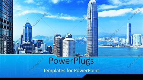 Photo Templates Of Buildings With Decks For Business Cards by Powerpoint Template Landscape View Of Mega City With