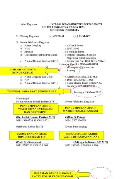 artikel format penulisan pkm gt contoh pkm gt by mayani avrillianti issuu