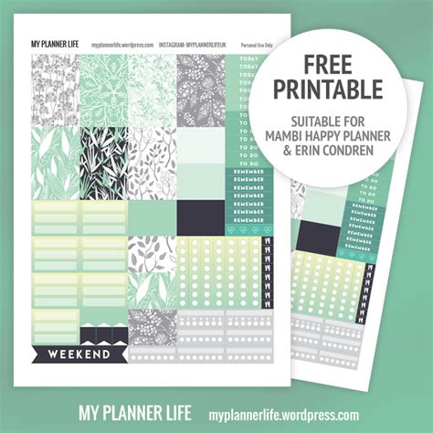 printable life planner 2016 free printable mint jungle my planner life