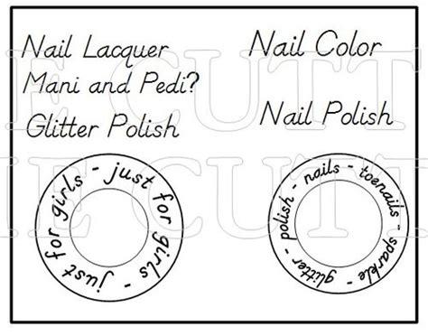 printable nail polish bottle template images