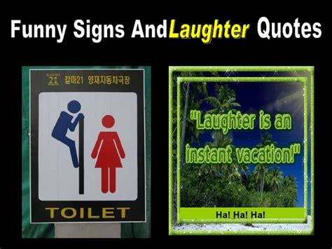 funny signs  laughter quotes