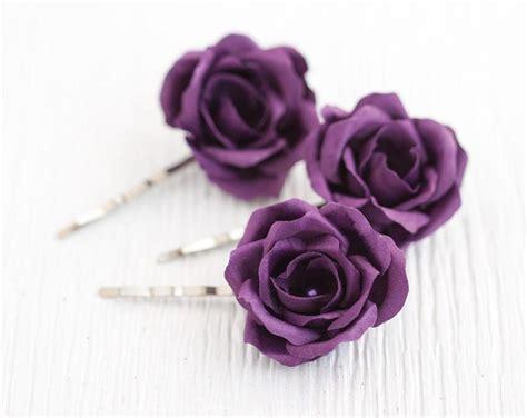 Flower Hair Pin hair accessories purple wedding hair flower hair