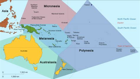 map of oceania countries oceania maps