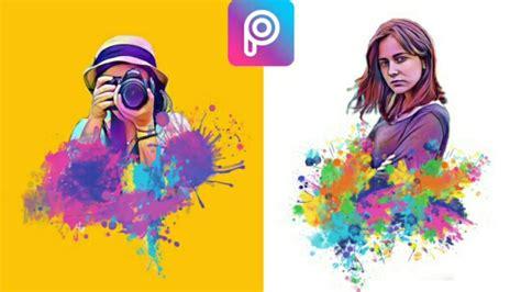 tutorial edit foto jadi lukisan cara edit foto magic splash di picsart android tutorial