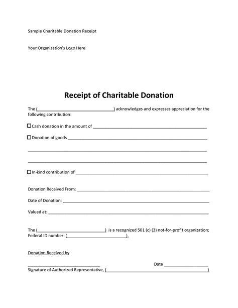 donation receipt template grand icon tax marevinho