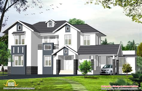 home style english style home 2424 sq ft kerala home design and