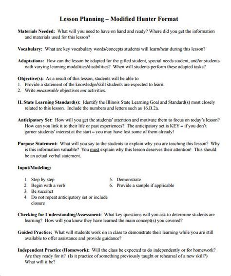otes lesson plan template sle of lesson plan search results calendar 2015