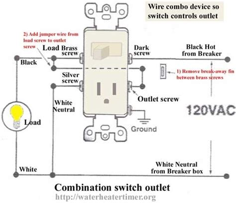 wiring switch outlet combo receptacle wiring diagrams