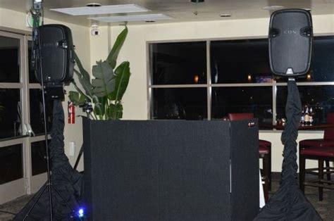 dj setup  facade  skirts   speakers www