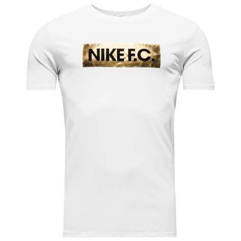 T Shirt Kaos Nike Fc White Gold nike f c t shirt foil white gold foil black www