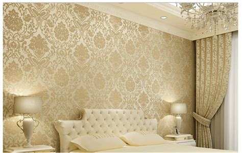 modern wallpaper for walls decosee com vintage classic beige french modern damask feature
