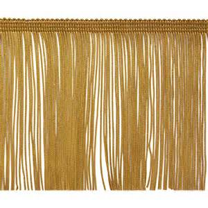 Upholstery Fringe Trim 4 Quot Chainette Fringe Trim Gold Discount Designer Fabric