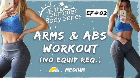 lean arms workout toned arms and abs exercises at home workout