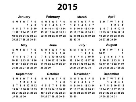 Last Year Calendar Calendrier 2015 Photo Stock Libre Domain Pictures