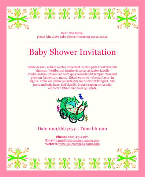 baby shower email invitation templates free baby shower email invitation templates email