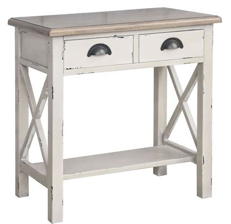 rustic white console table nspire amelia console table rustic white disc 502 734