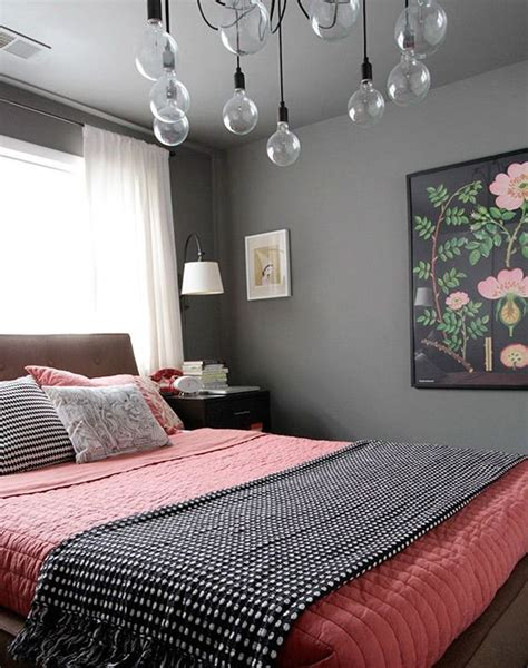 gray and coral bedroom ideas 30 grey and coral home d 233 cor ideas digsdigs