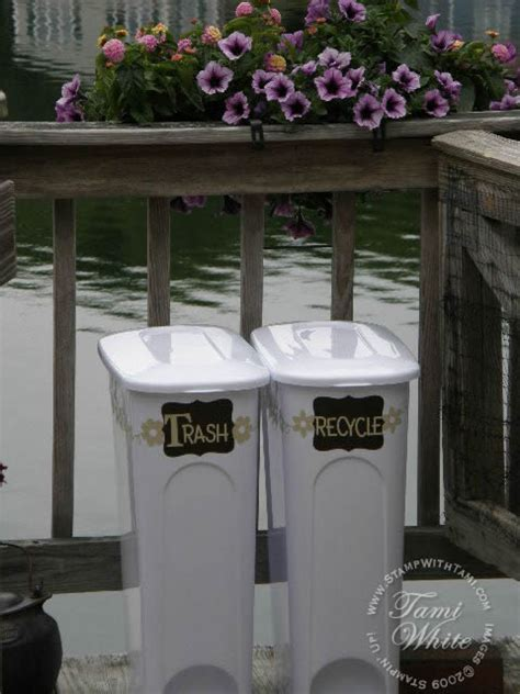 decorative recycling containers for home trashy chic decorative recycle bins stin up