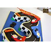 Vroom Race Car Track Cake {Birthday}  The Hudson Cakery
