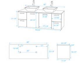 60 quot amare double vessel sink vanity grey oak tradewindsimports