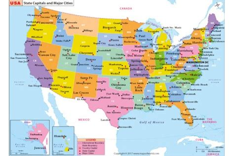 usa map states capitals and major cities buy us state capitals and major cities map