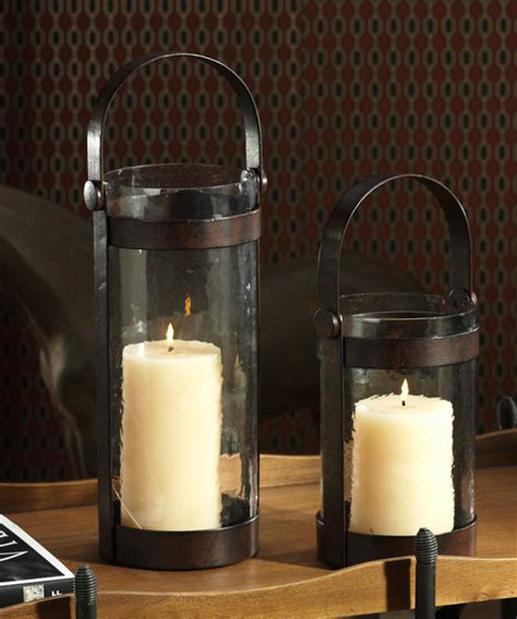 Iron And Glass Candle Holders Equestrian Wrought Iron And Glass Lantern
