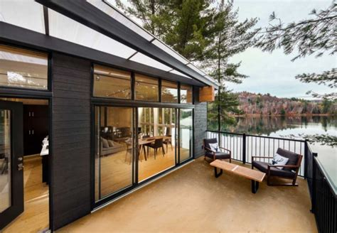Tiny Homes Interiors terrasse bois chalet contemporain