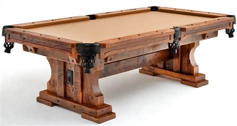go rustic barn wood pool table