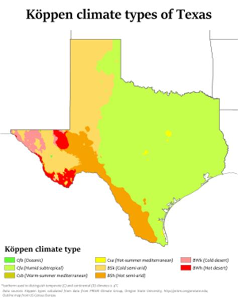 texas desert map climate of texas