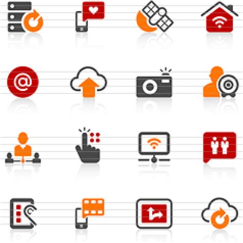 digital communication icons  images  clkercom