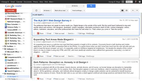 Design Google Reader | fors my compact style for google reader