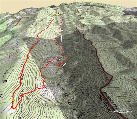 Spruce Knob Trail Map by High Seneca Creek Hike