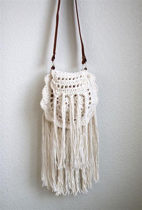 crochet pattern net bag boho tassel crochet bag free pattern crocheted bags