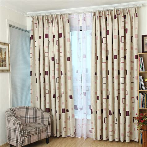 quality ready made curtains high quality purplish pattern customize ready made
