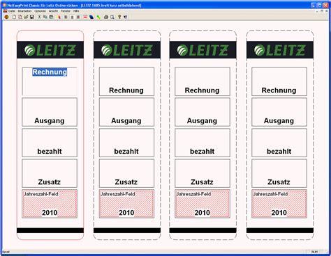 Etiketten Drucken Leitz Ordner by Etiketten F 252 R R 252 Ckenschilder Und Aktenordner Bedrucken