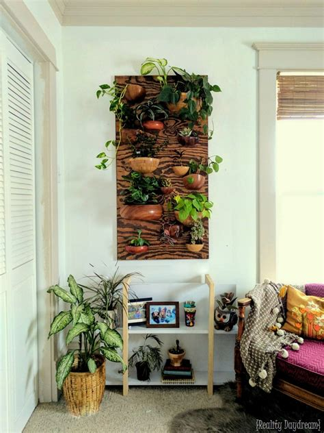 How To Make Living Wall Planter by Living Wall Vertical Planter From Wooden Bowls Reality Daydream