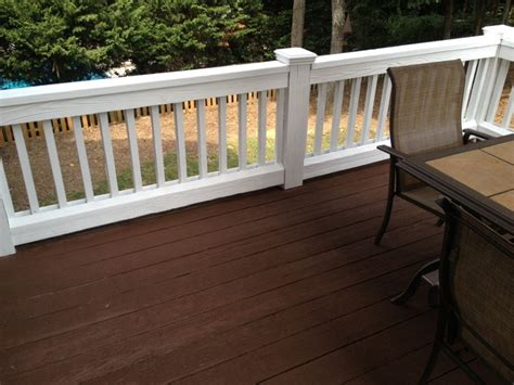 exterior painting and staining traditional deck by fox brothers painting