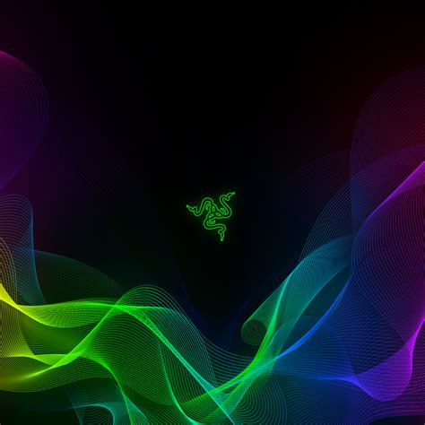 wallpaper razer abstract colorful waves  technology