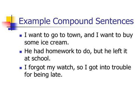 exle of compound sentence simple compound complex compound complex ppt