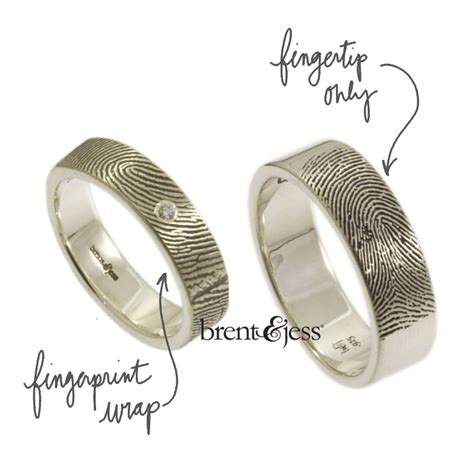 personalized fingerprint wedding bands from brent jess
