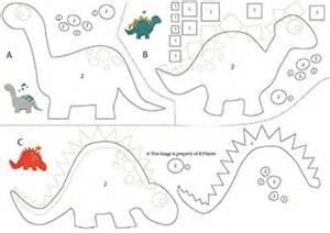 felt template felt dinosaur s free pattern hobby hopper
