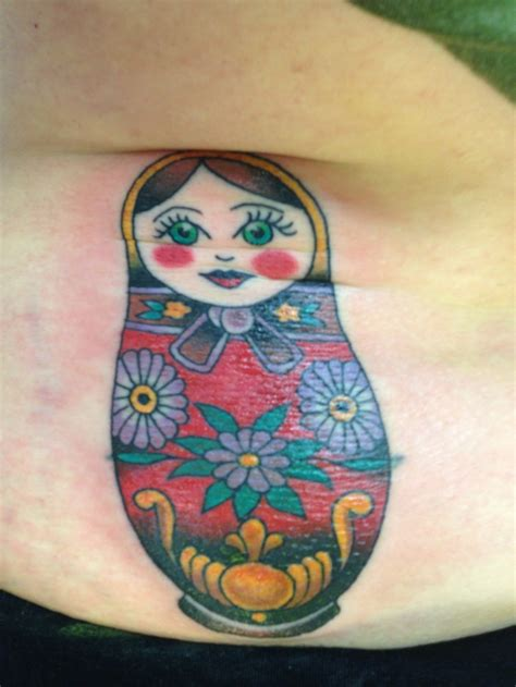 small russian doll tattoo russian nesting doll tattooed