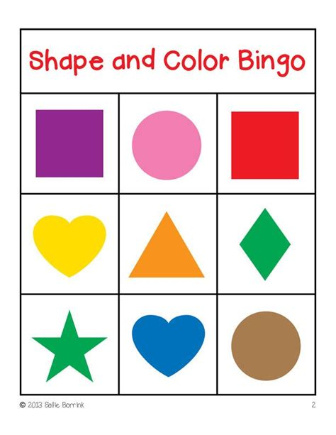 printable shapes bingo shapes and colors bingo game cards 4 215 4 bingo shape and