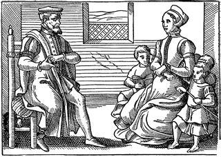 a puritan family | clipart etc