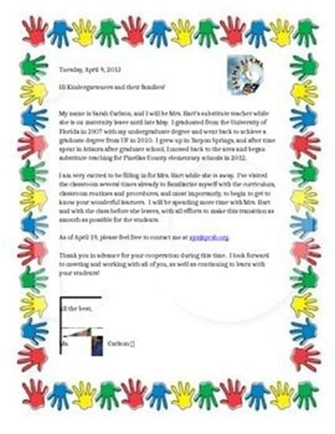 Introduction Letter Term Substitute Best 25 Letters Ideas On Parent Newsletter Template Newsletter