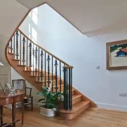 Staircase Spindles Ideas Oak Staircase Ideas Home Interior Decor With Spiral Staircase Including Black Wrought Iron