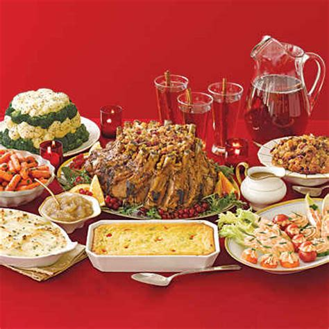 food to bring for christmas traditional dinner menus recipes myrecipes
