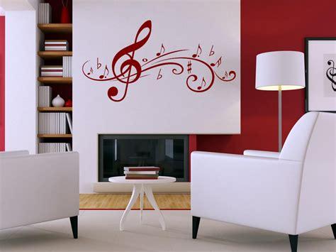 musik wohnzimmer wandtattoo deko wandaufkleber f 252 r wohnzimmer musik noten